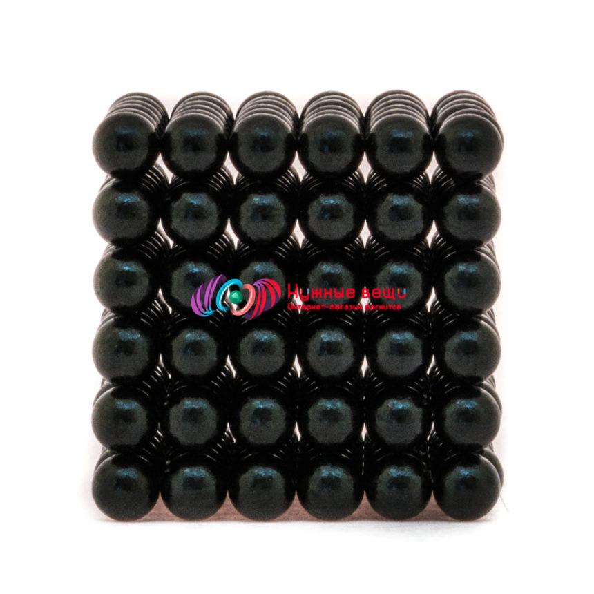 Неокуб 5 миллиметров. 216 шариков. Черного цвета.