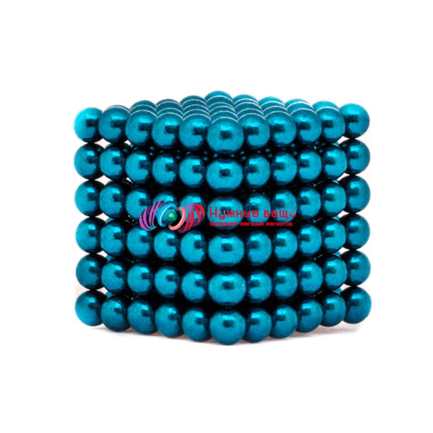 Неокуб 5 миллиметров. 216 шариков. Голубого цвета.