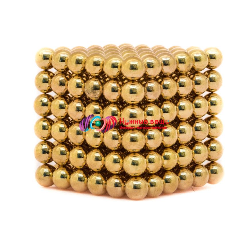 Неокуб 5 миллиметров. 216 шариков. Золотого цвета.