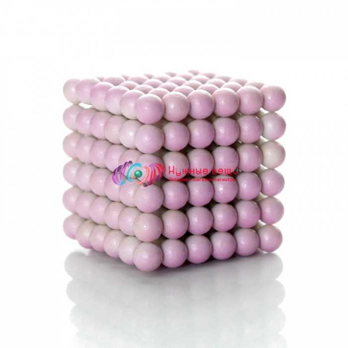 Неокуб 5 миллиметров. 216 шариков. Белого цвета.