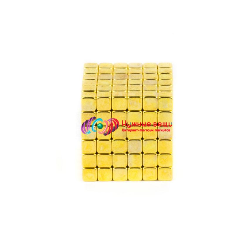 ТетраКуб 5 миллиметров. 216 деталей. Золотого цвета.